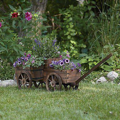 2-Tiered Wagon Flower & Wheels Home