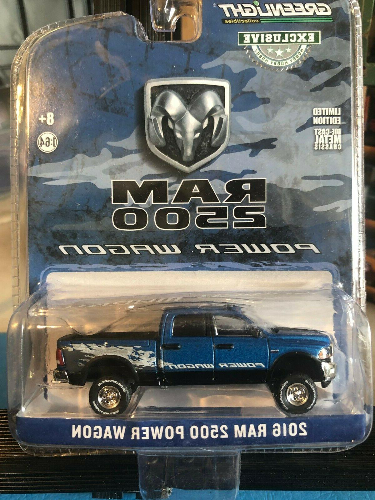 2016 DODGE RAM 2500 POWER WAGON PICKUP TRUCK BLUE 1/64 DIECA