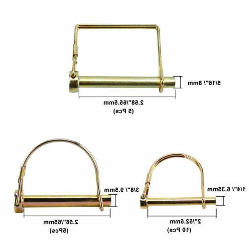 20Pack Lock Trailer Wire Pin Farm Lawn