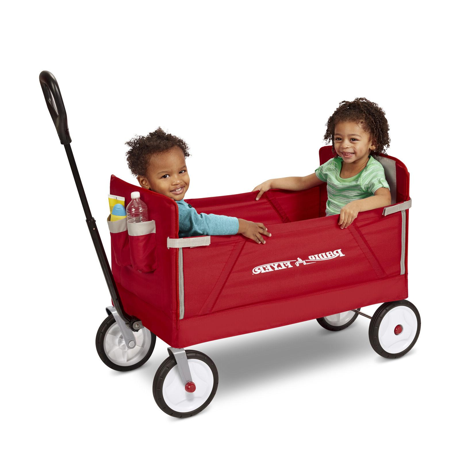 Radio Flyer, 3-in-1 EZ Fold Wagon, Padded Seat with Seat Bel