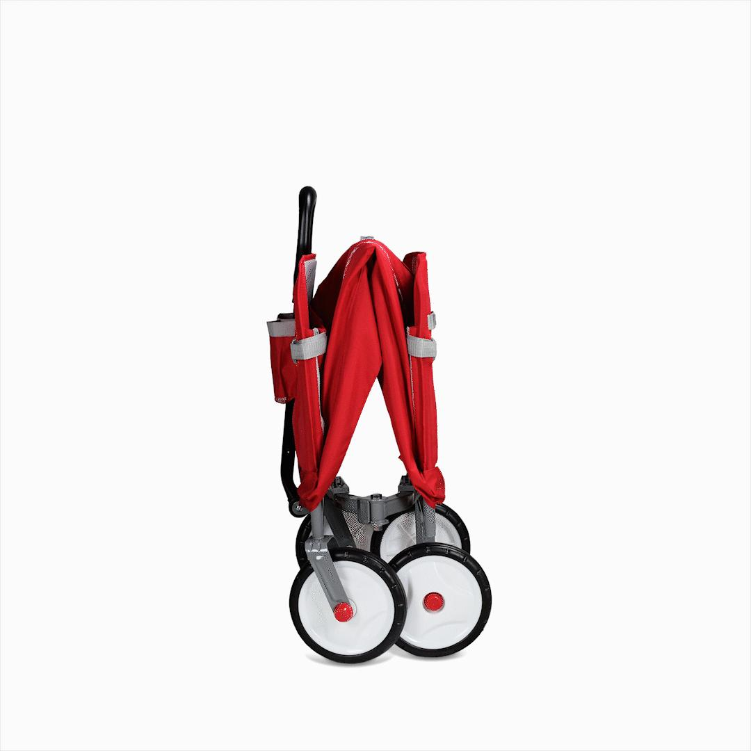 Radio Flyer, 3-in-1 Fold with Seat Belts, Red