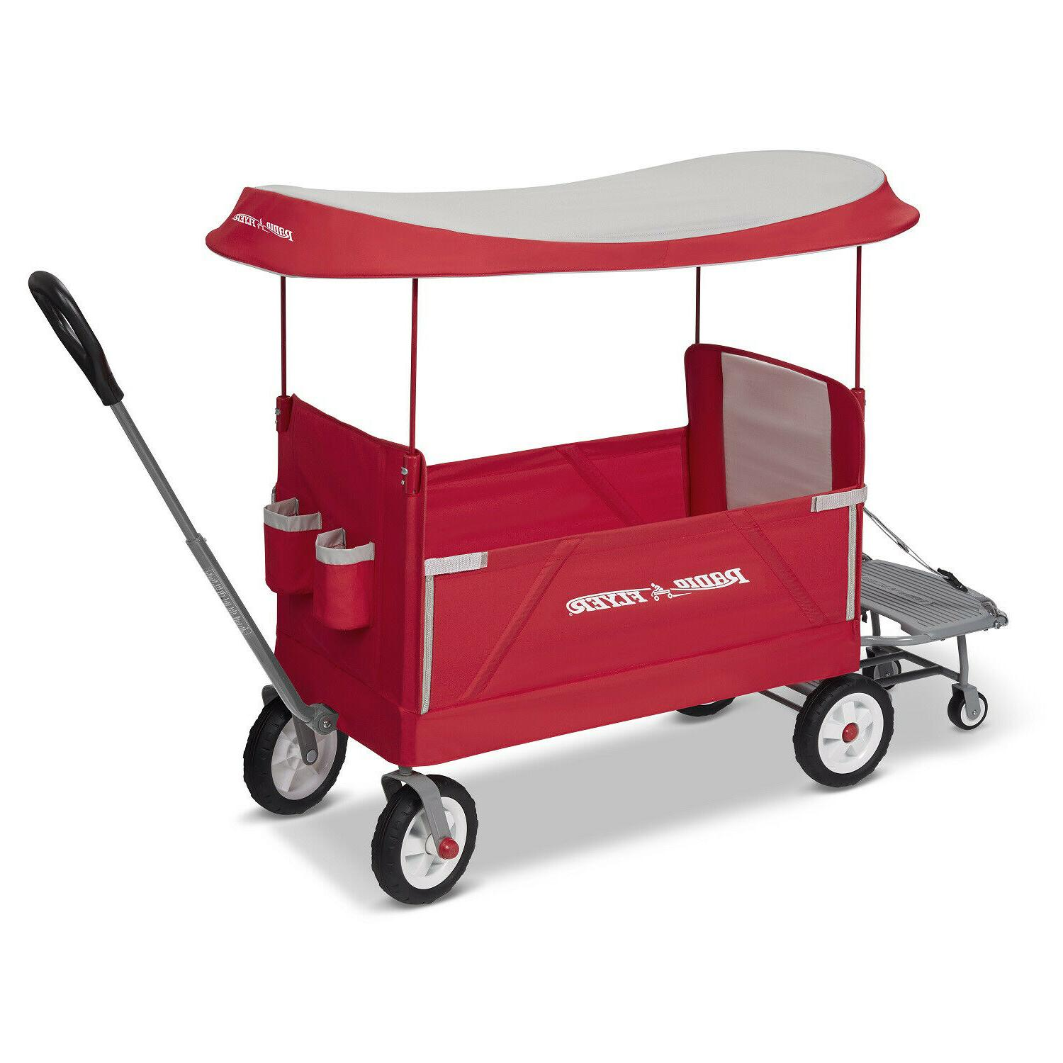Radio Flyer, 3-in-1 Tailgater Wagon with Canopy, Folding Wag