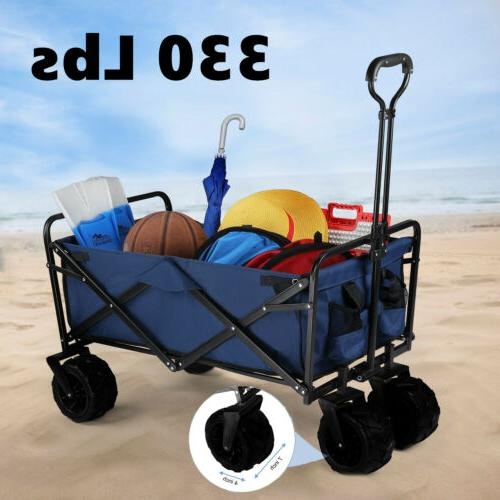 330lbs wagon cart beach collapsible folding utility