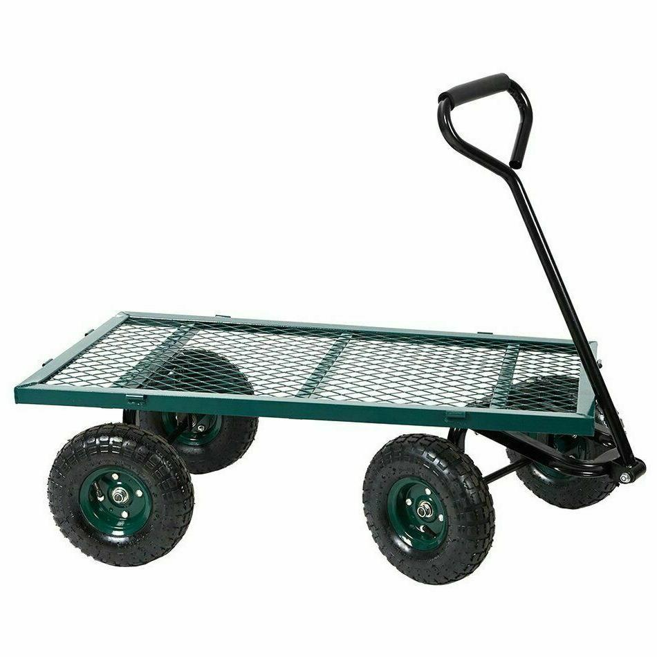 Duty Outdoor Lawn Yard Wheel Barrow