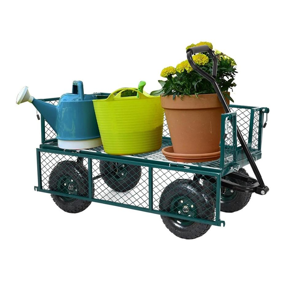 550lbs Garden Cart Duty Dump Wagon Outdoor Lawn Barrow