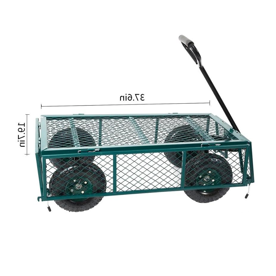 550lbs Garden Cart Duty Dump Wagon Outdoor Wheel Barrow