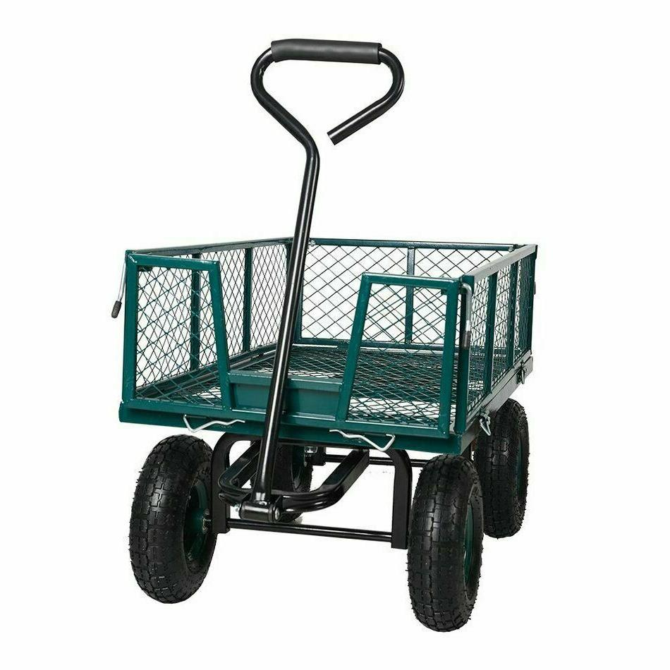 550lbs Cart Heavy Duty Dump Outdoor Lawn Barrow