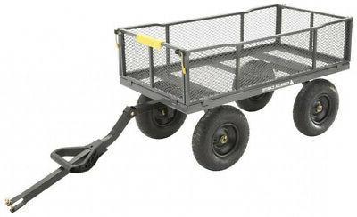 Gorilla 6-cu Steel Towable Wagon Dump Utility
