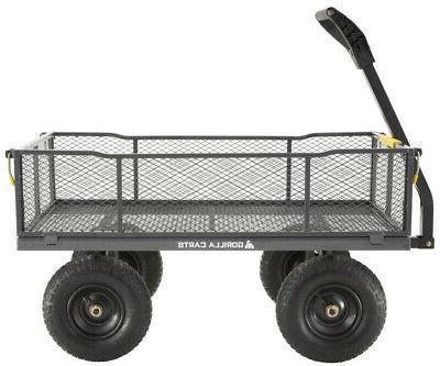 Gorilla Carts ft Steel Towable Utility