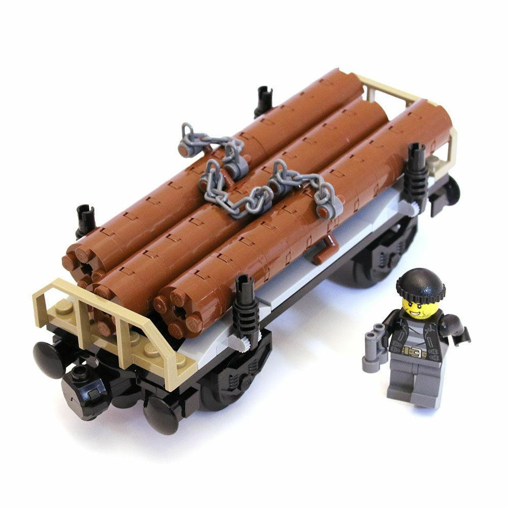60198 cargo train only wagon with logs