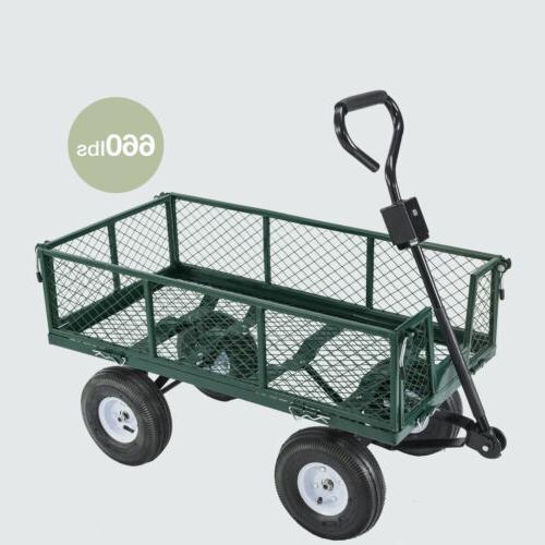 660lbs Heavy Garden Utility Cart Wagon Steel
