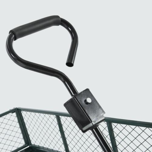 660lbs Heavy Garden Utility Yard Cart Wagon Wheelbarrow Trailer