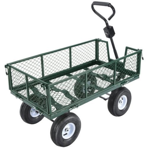 660lbs Garden Yard Cart Wagon Steel