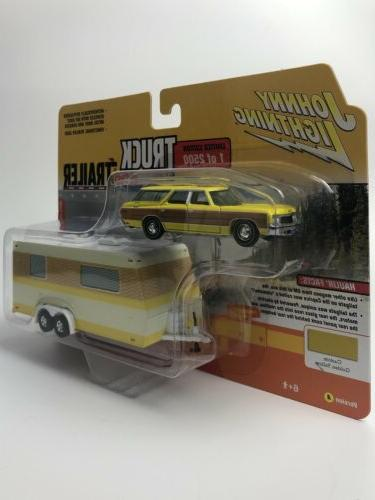 Johnny Chevy Caprice with Camper & Trailer 1:64