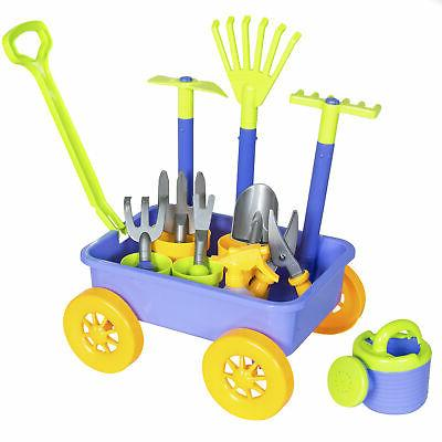 Best Choice Products 14-Piece Garden Wagon and Toy Set w/ 8