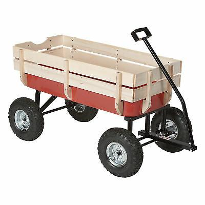Kotulas All-Terrain Red Wagon, 220-Lb. Capacity