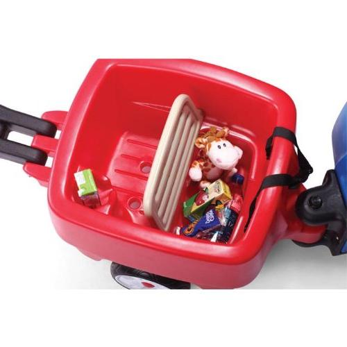 Step2 Push Wagons for Toddlers with Long Handle, Seat Belts Molded-in Drink - Durable Toys - Choo Train Combo with Storage