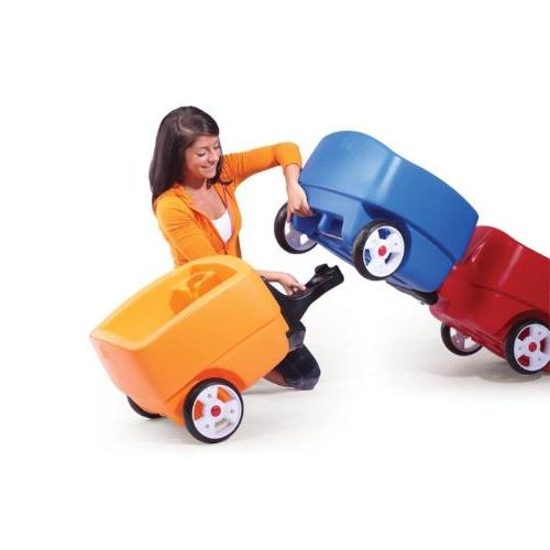 Step2 Push Toddlers Long Handle, Seat Belts Drink Plastic Lightweight Car Toys Kids Choo Train and Trailer Combo