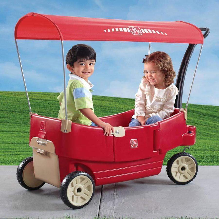 all around canopy wagon red brand new