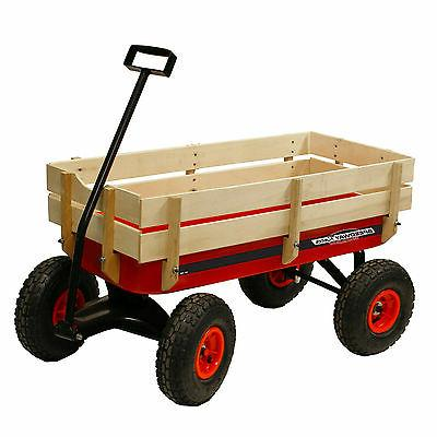 all terrain racer steel red wagon