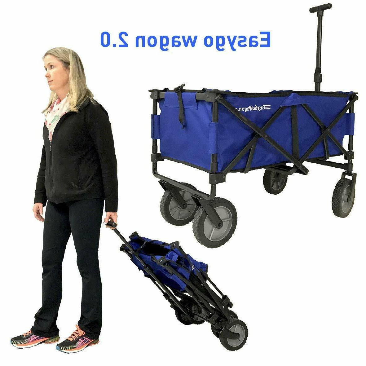 blue easygowagon 2 0 folding wagon collapsible