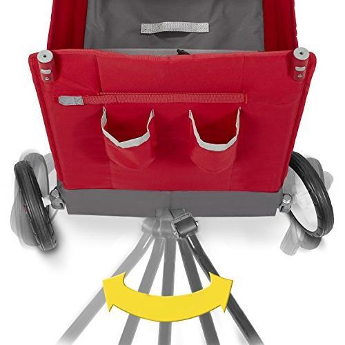 Radio Kid Cargo Canopy, Wagon 2 Seats, Red