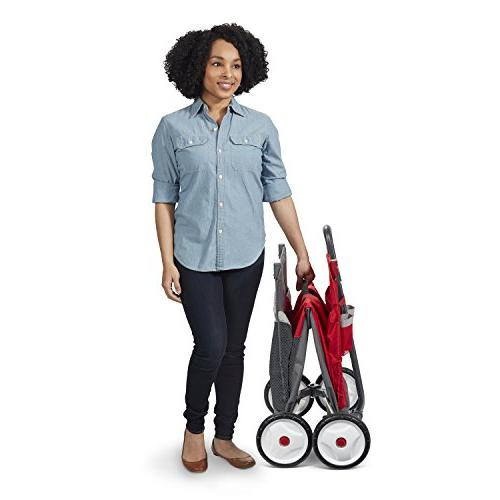 Radio Flyer Kid Cargo with Canopy, Seats, Red
