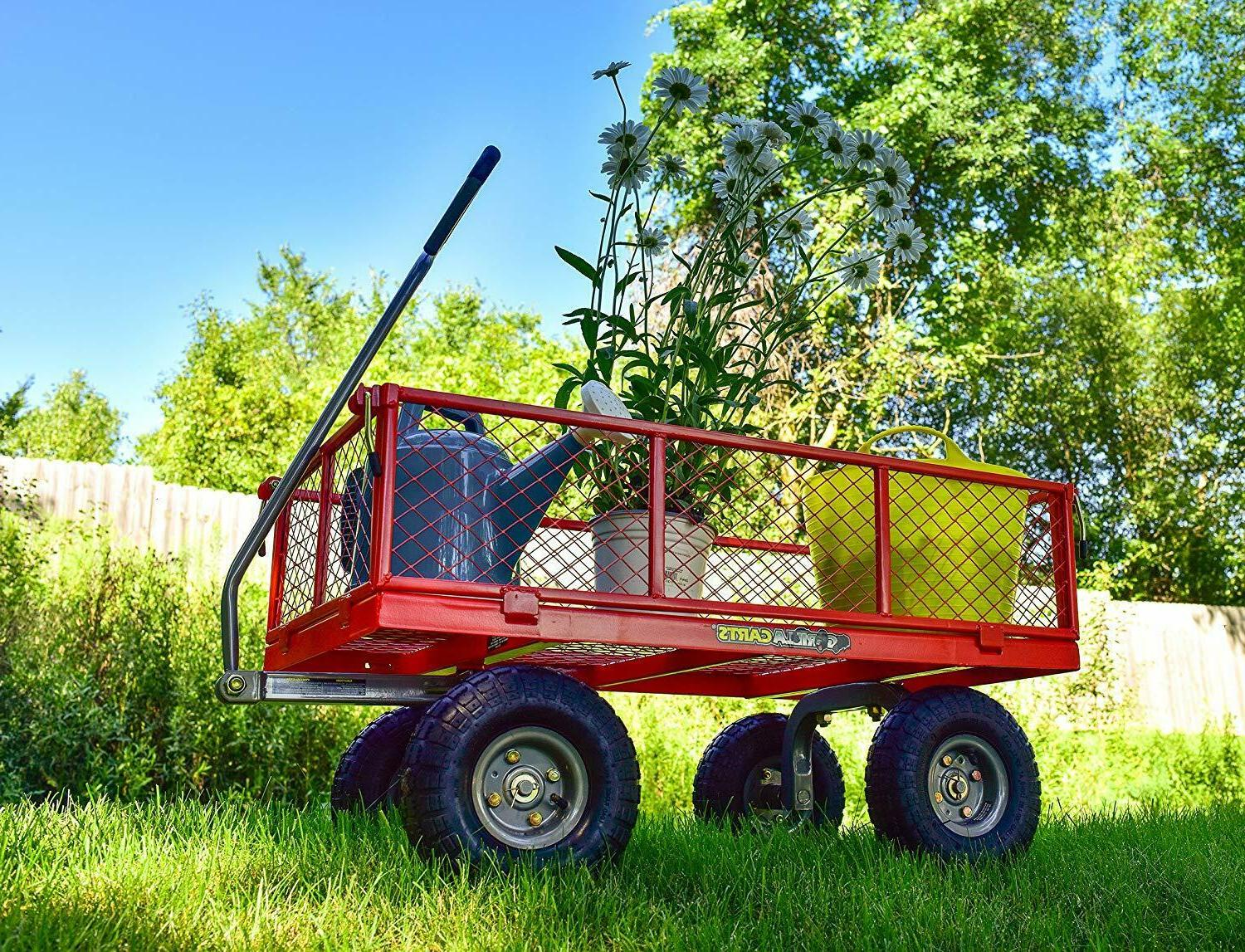 Gorilla Carts Steel Utility with Removable Sides 800-lbs. Ca