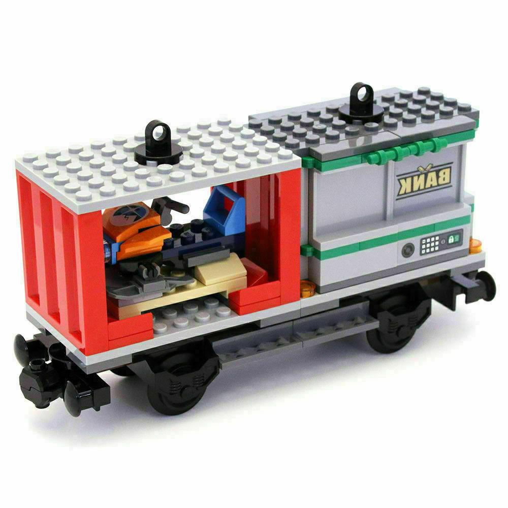 city cargo train railway wagon bank container