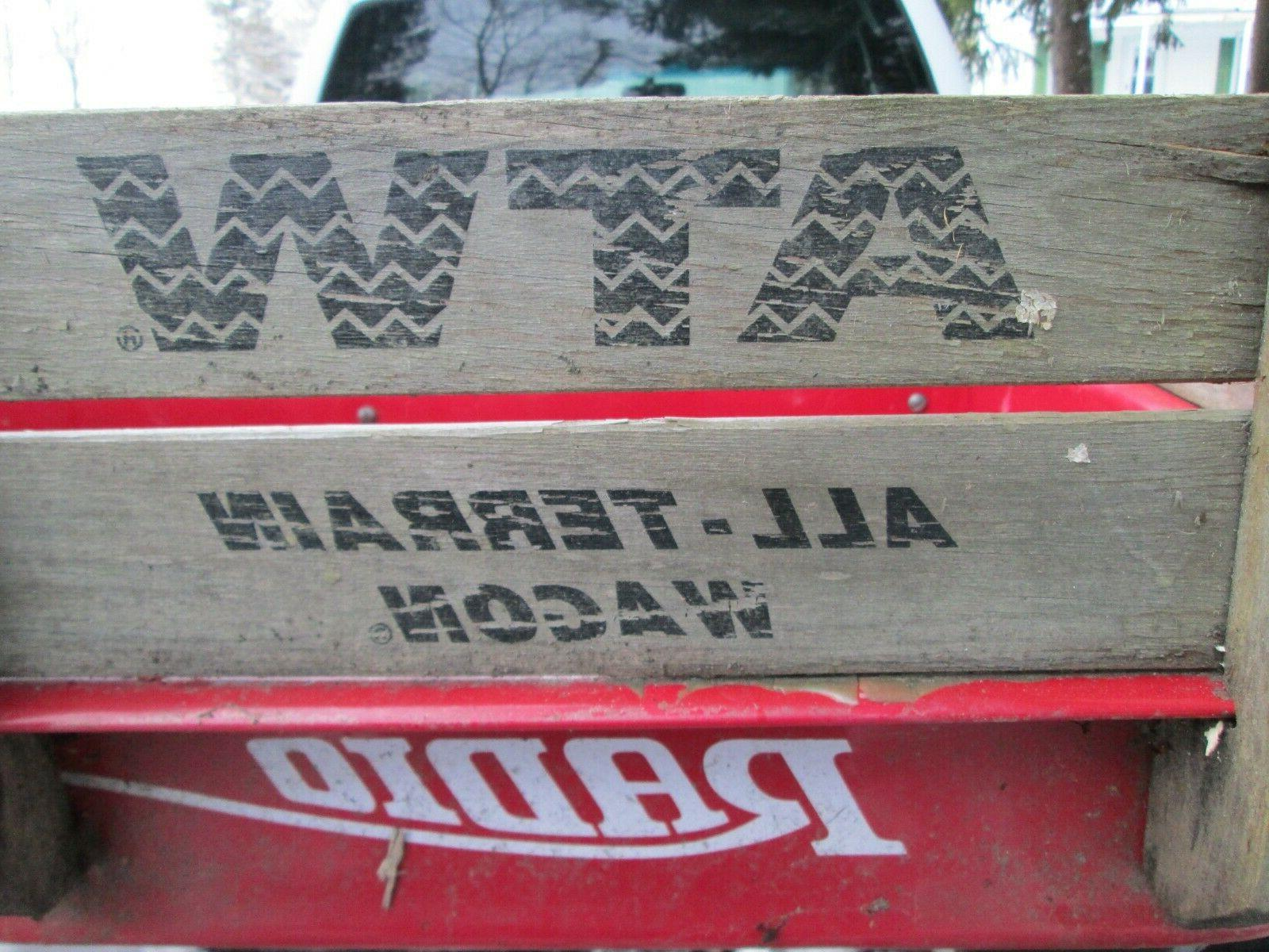 Radio Flyer Rare All Terrain Wooden Sides
