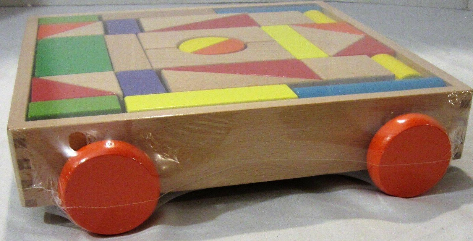 Toyssa Classic Wooden Blocks Pull Free Shipping!
