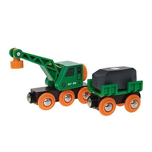 BRIO Clever Crane Wagon Set