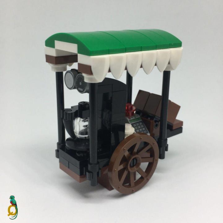 Lego Stall Food & Beverage Wagon MOC