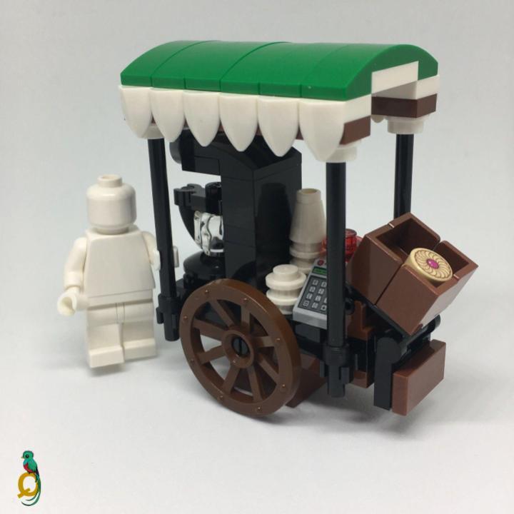 Lego Cart Stall Food Wagon Minifigure MOC