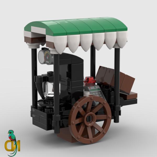 Lego Coffee Stall Wagon Minifigure MOC