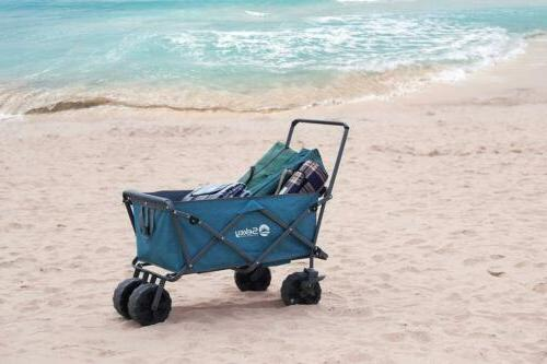 Collapsible Wagon Outdoor Blue