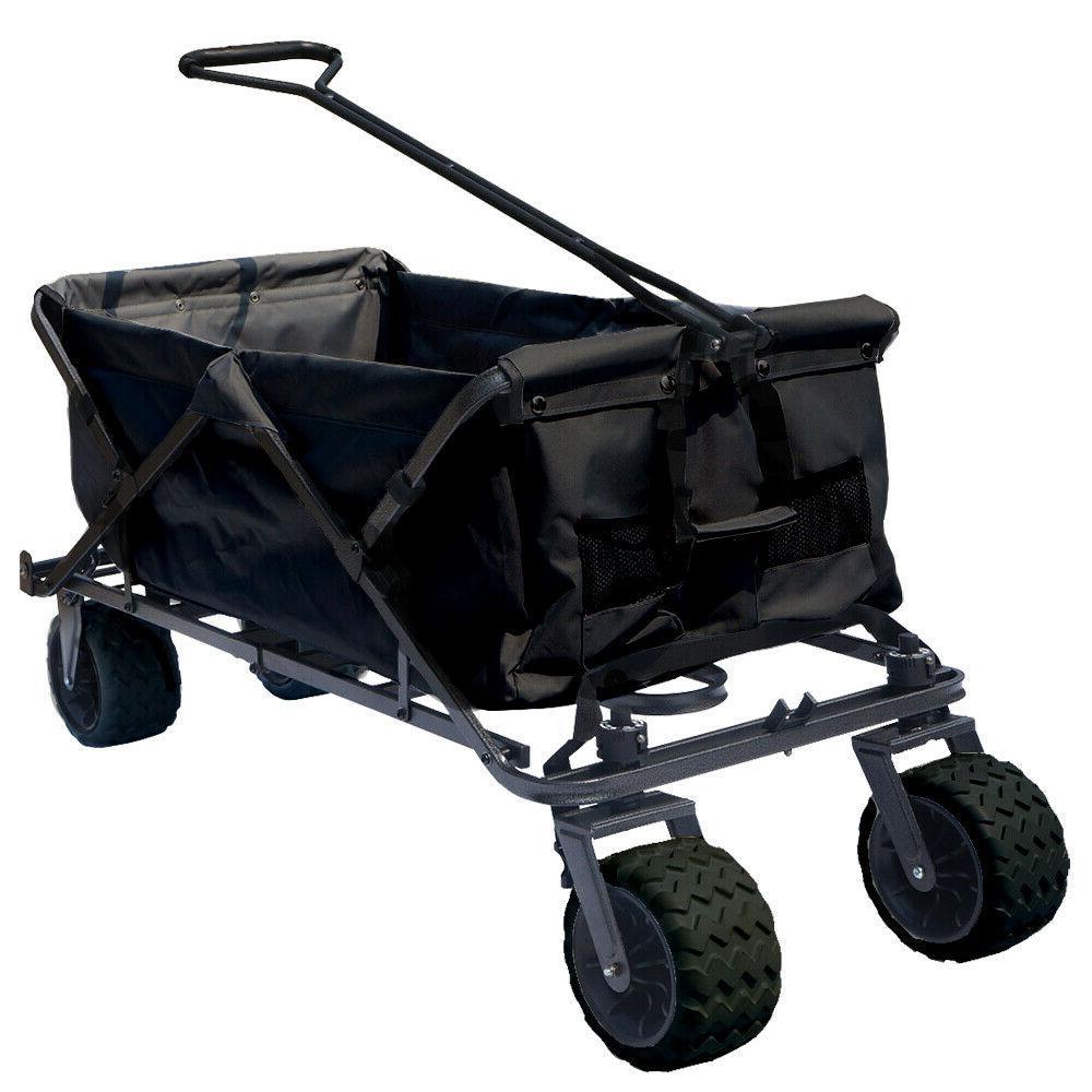 Collapsible Beach Cart Wagon Utility Shopping Outdoor Cart