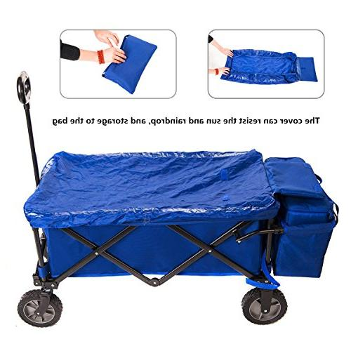 Timber Collapsible Beach Wagon Camping Cart Cooler Bag Outdoor Supports up to Duty