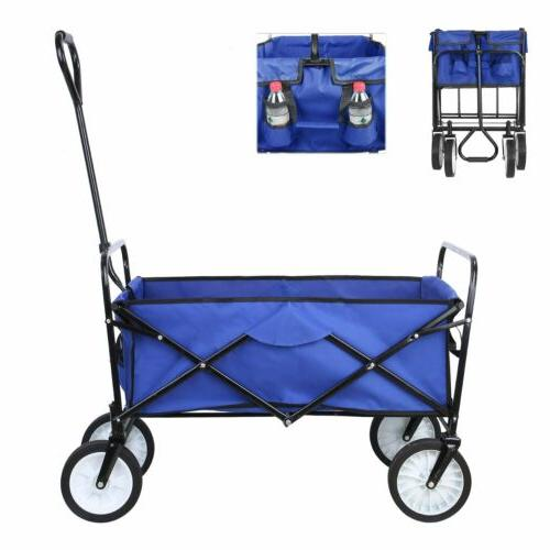 collapsible beach wagon folding support up 165lbs