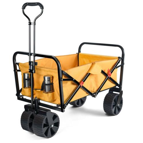 collapsible folding outdoor utility wagon folding wagon