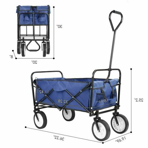 Collapsible Folding Cart Navy Blue