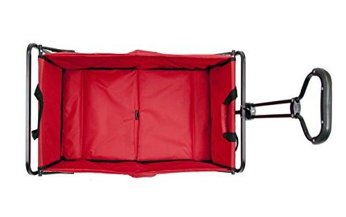 MAC Sports Folding Outdoor Wagon, Red