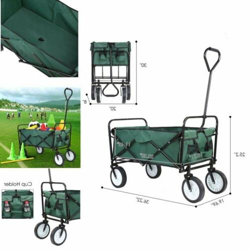 collapsible folding utility wagon compact outdoor kids
