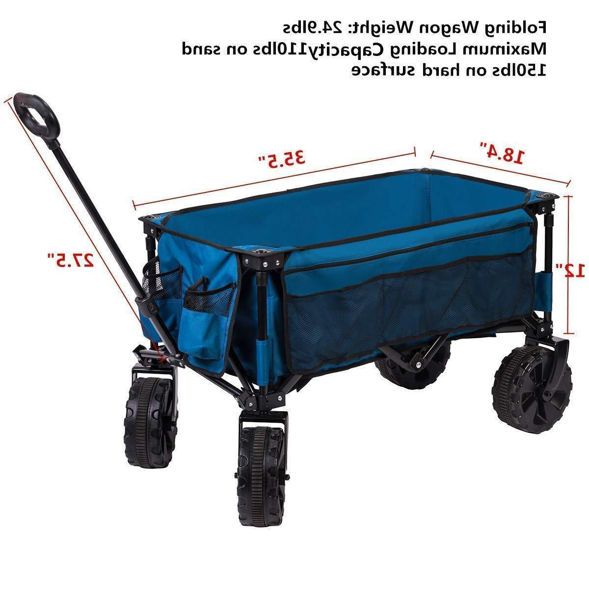 Collapsible Wagon Cart Steel Large Camping