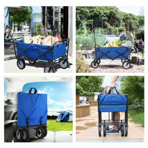 Collapsible Wagon Cart Utility Garden Camp Cart Safe