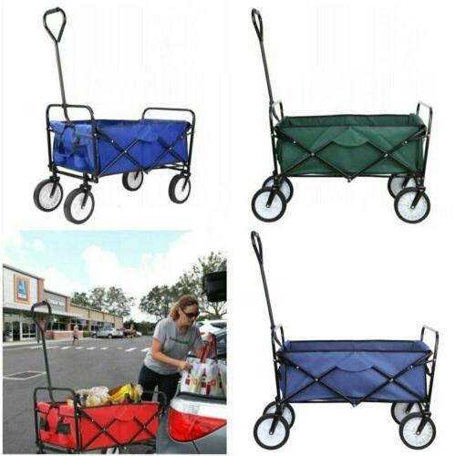 collapsible folding wagon garden beach utility cart