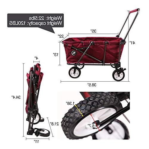 REDCAMP Collapsible Cart for Folding Wagon With Perfect for Red