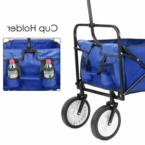 Collapsible Wagon Garden Portable Fold Trolley