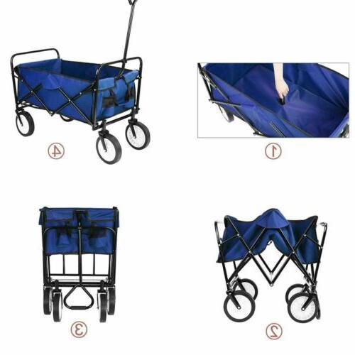 Collapsible Wagon Cart Camp Garden Capacity Portable