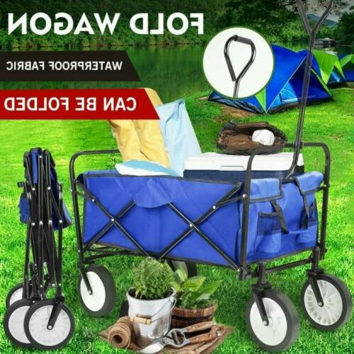 collapsible wagon cart camp garden tool large